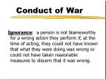 conduct of war11