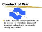 conduct of war17