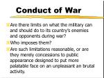 conduct of war18