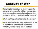 conduct of war21