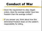 conduct of war22