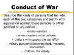 conduct of war8