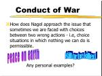 conduct of war9