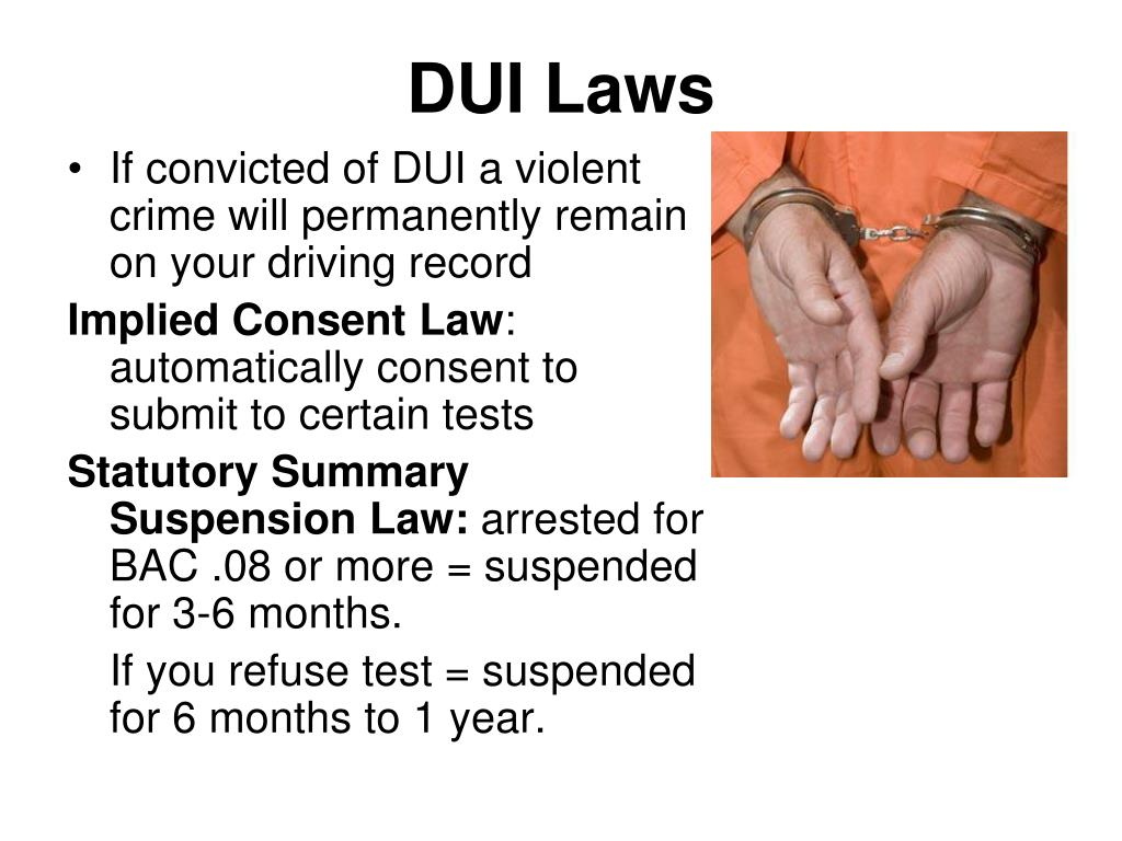 PPT - DRIVING UNDER THE INFLUENCE (DUI) PowerPoint ...