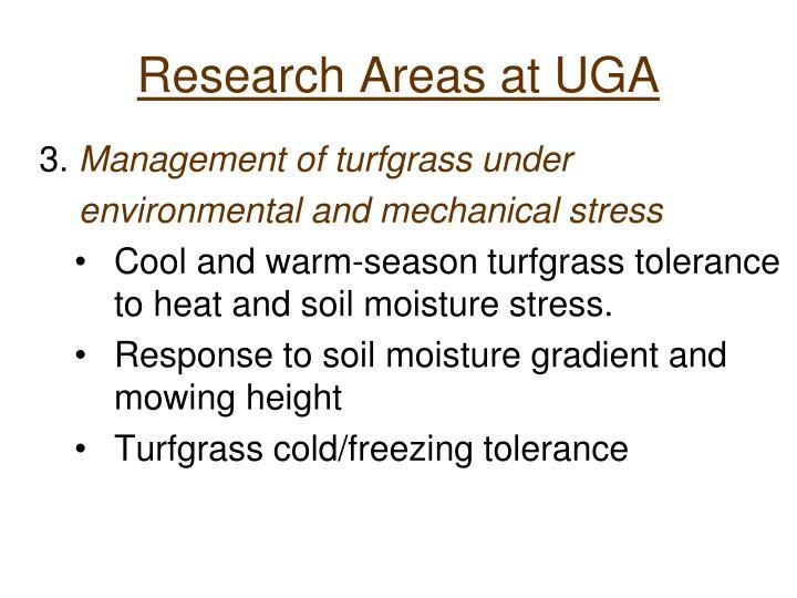 Research Areas at UGA