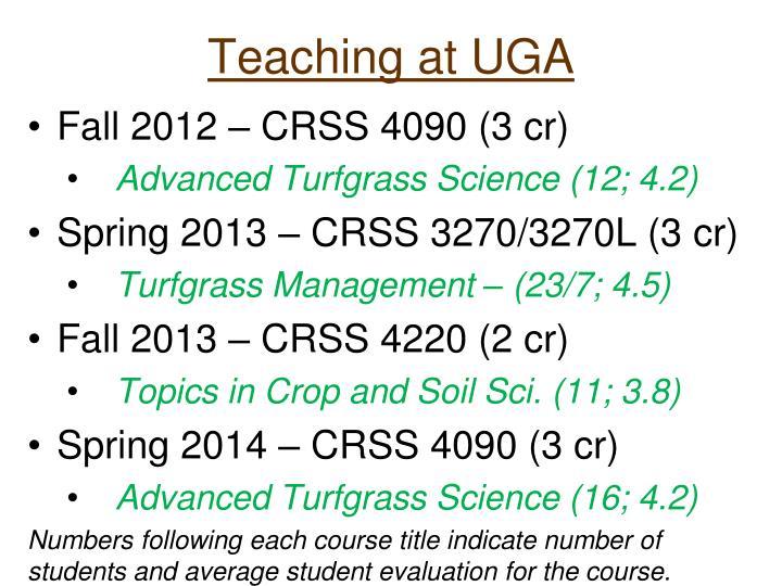 Teaching at UGA