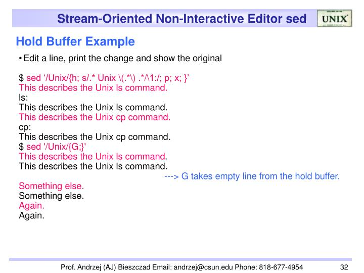 Hold Buffer Example
