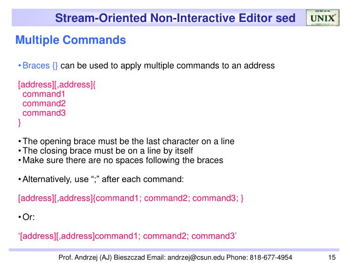 Multiple Commands