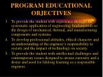 program educational objectives1