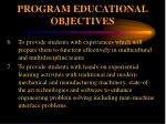 program educational objectives2