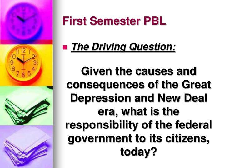 First Semester PBL