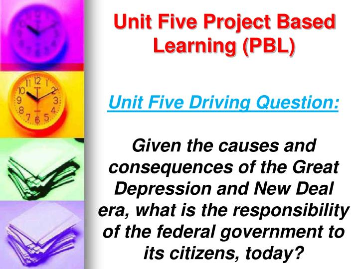 Unit Five Project Based Learning (PBL)
