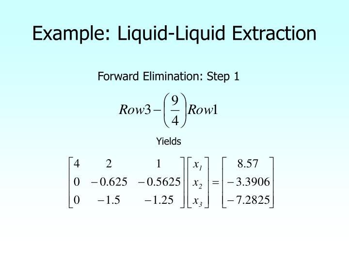 Example: Liquid-Liquid Extraction