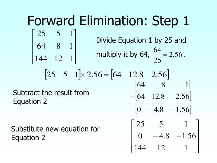 Forward Elimination: Step 1