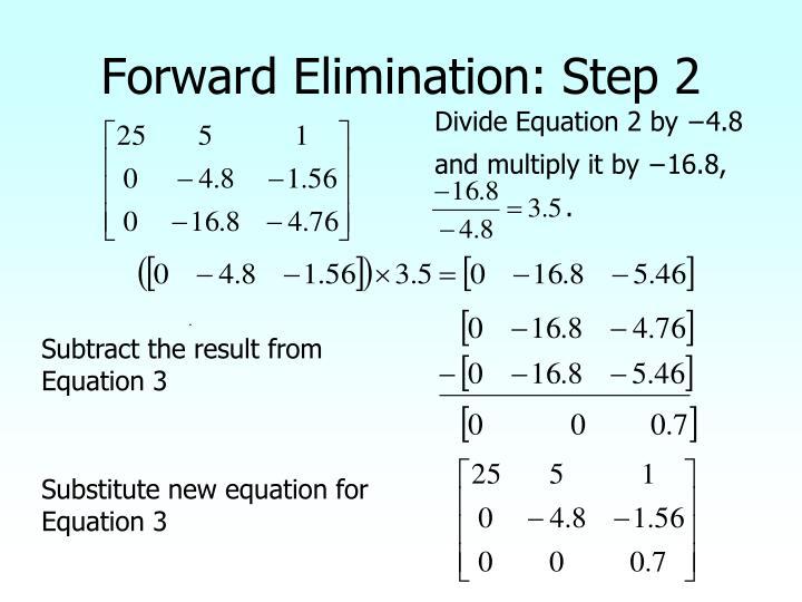 Forward Elimination: Step 2