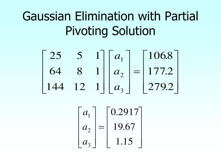 Gaussian Elimination with Partial Pivoting Solution