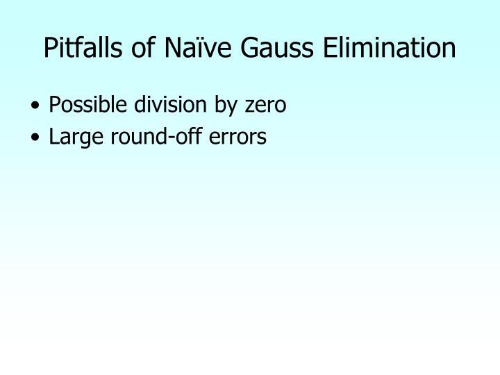 Pitfalls of Naïve Gauss Elimination