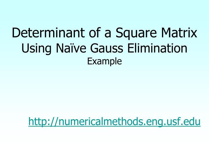 Determinant of a Square Matrix