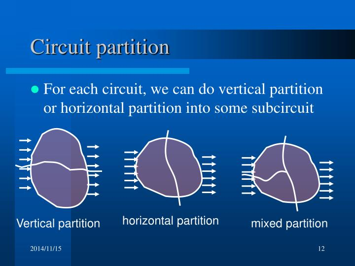 Vertical partition
