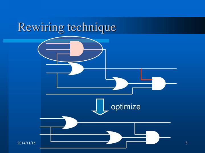 Rewiring technique