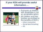 if your kea will provide useful information