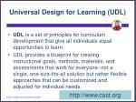 universal design for learning udl