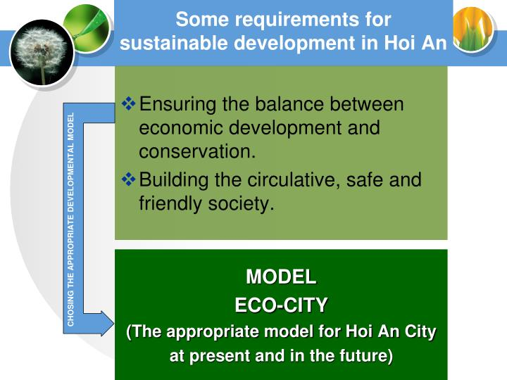 Some requirements for sustainable development in Hoi An