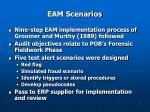 eam scenarios