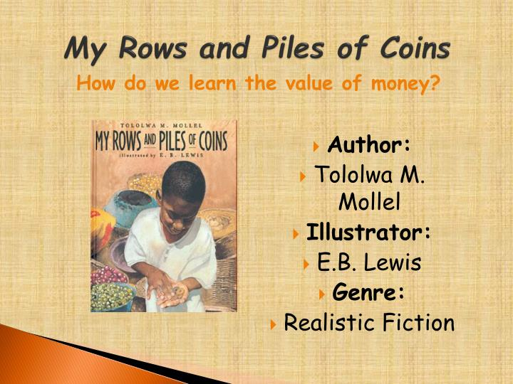 my rows and piles of coins n.