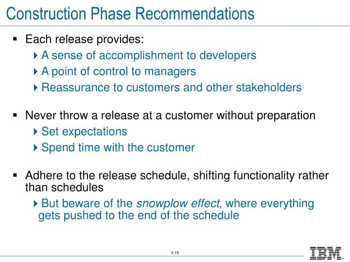 Construction Phase Recommendations
