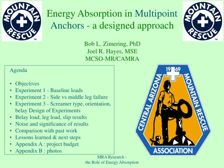 Energy absorption in multipoint anchors a designed approach