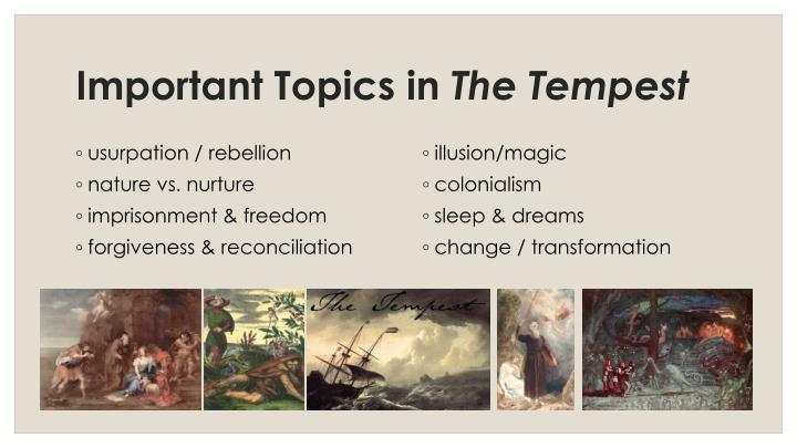 an analysis of forgiveness and reconciliation in the tempest by william shakespeare Dive deep into william shakespeare's the tempest with extended analysis, commentary, and discussion  the tempest analysis william shakespeare  forgiveness, the renewal of the world, [and.