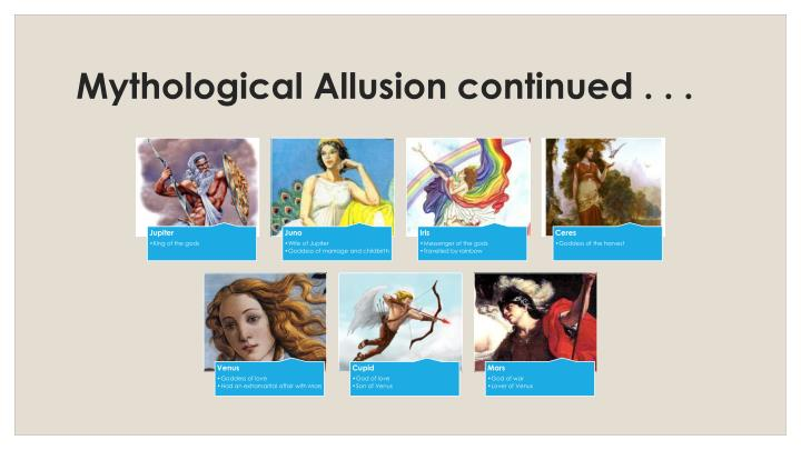 Mythological Allusion continued . . .