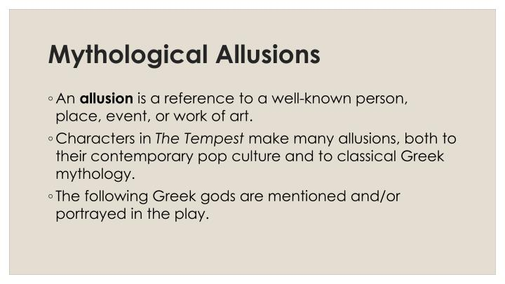 Mythological Allusions