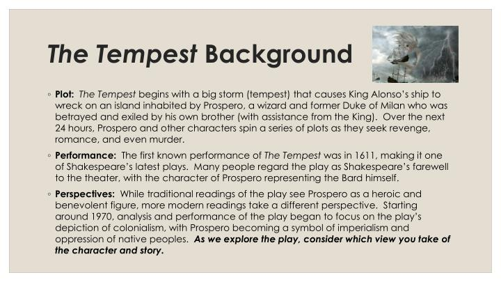 The tempest background