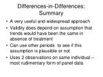 differences in differences summary