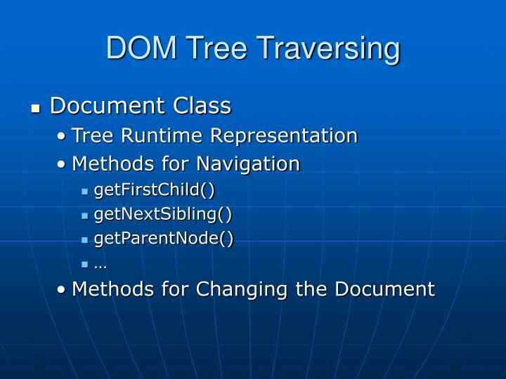 DOM Tree Traversing