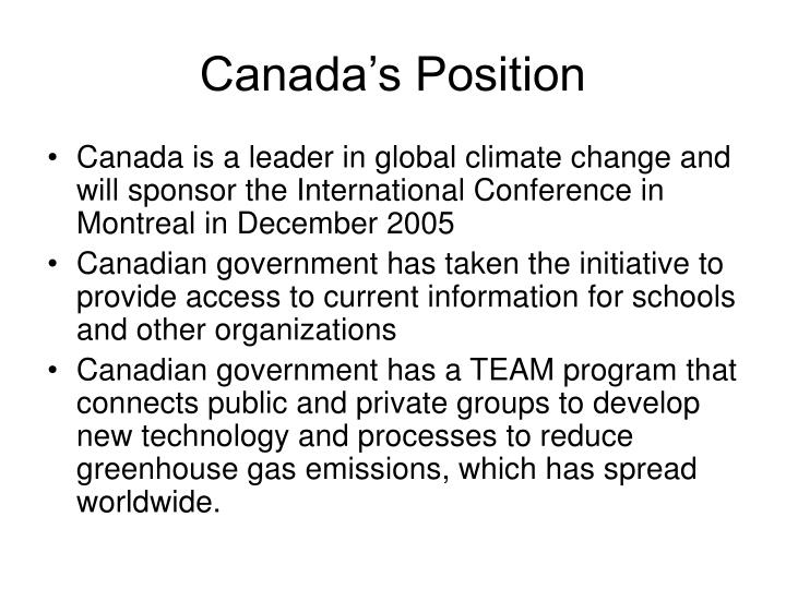 Canada's Position