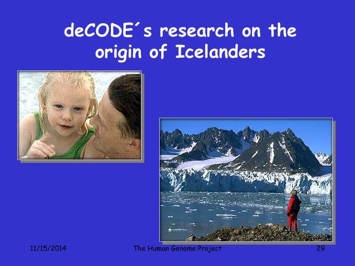 deCODE´s research on the origin of Icelanders