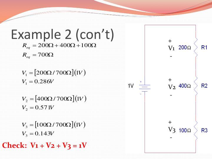 Example 2 (