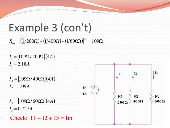 Example 3 (con't)
