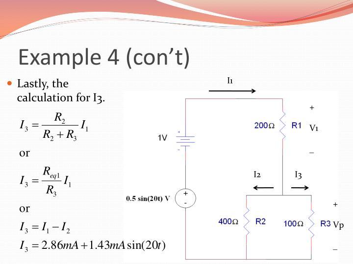 Example 4 (con't)