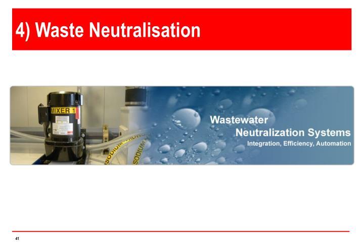 4) Waste Neutralisation