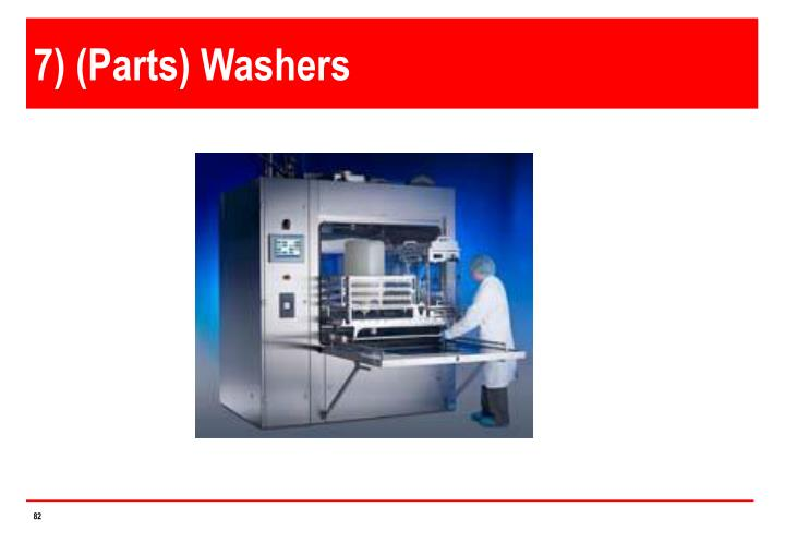 7) (Parts) Washers