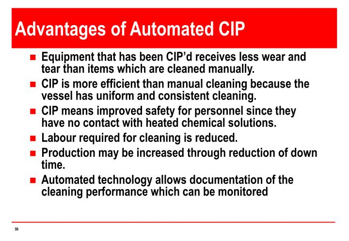 Advantages of Automated CIP