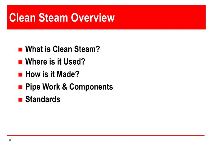 Clean Steam Overview