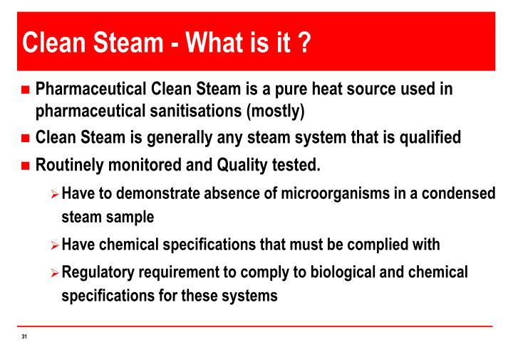 Clean Steam - What is it ?
