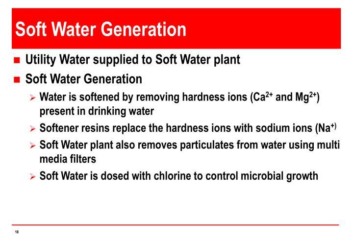 Soft Water Generation