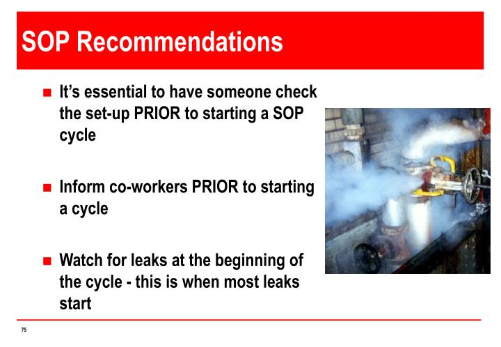 SOP Recommendations