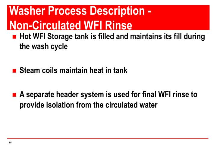 Washer Process Description -